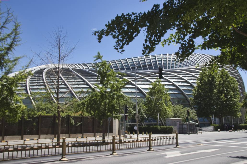 Phoenix-Center in Peking, geformt wie ein Donut